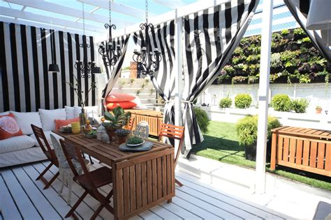 outdoor privacy curtains for patio 7 trendy deck decorating ideas for spring my monochrome