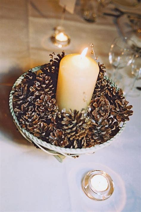 pine cone table 1000 images about winter weddings on pinterest