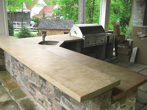 Outdoor Concrete Bar Top by Outdoor Living With Concrete Countertops Traditional