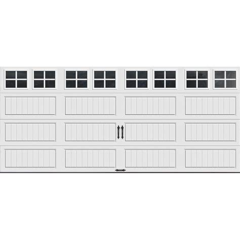 16 x 7 garage doors clopay gallery collection 16 ft x 7 ft 18 4 r value