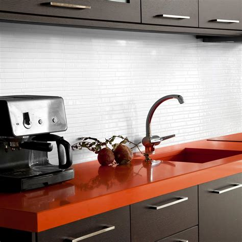 peel and stick tiles for kitchen backsplash smart tiles blanco 11 55 in w x 9 65 in h peel and stick self adhesive decorative