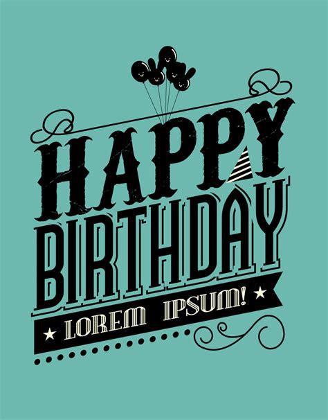 happy birthday vector design black happy birthday vector free vector graphic download
