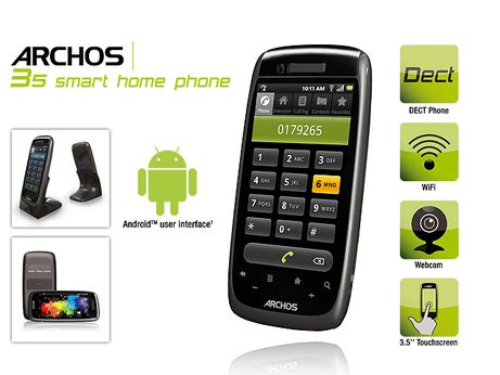 buy archos 35 smart home dect touch screen android phone