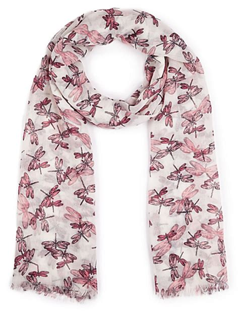 marks and spencer m s collection scattered dragonfly print