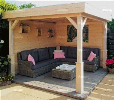 wooden gazebo  pent roof fully boarded walls