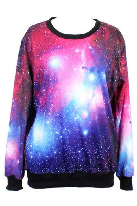 Galaxy Print galaxy print sweatshirt oasap