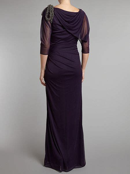 adrianna papell draped shoulder gown adrianna papell draped shoulder gown house of fraser