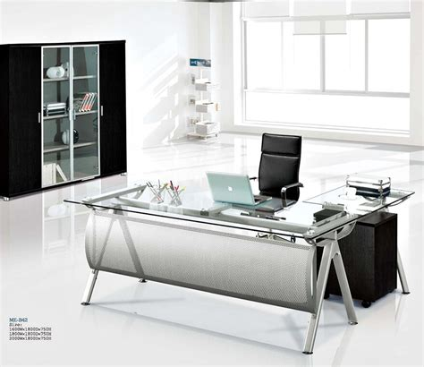 executive glass office desk modern executive glass computer desk l shaped metal office table with glass top metal desk