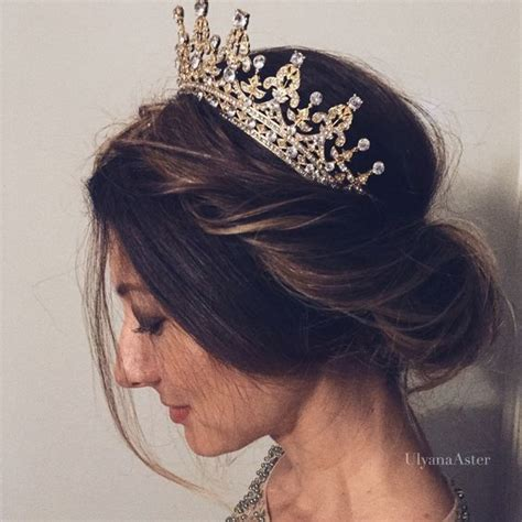 Wedding Hairstyles Crown by Amazing Gold Tiara Crowns For Beautiful Princess Fashion