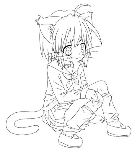 anime wolf girl coloring pages anime wolf girl coloring pages www pixshark com images