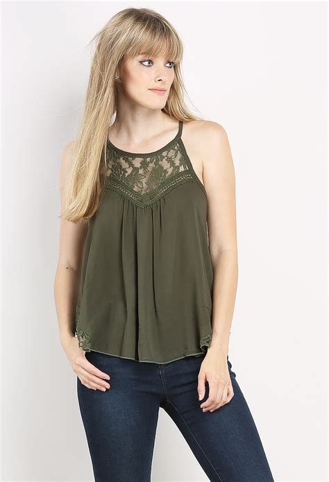 Blouse Flowy 1 lace accented flowy top shop blouse shirts at papaya clothing
