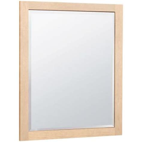 maple bathroom mirror masterbath 32 in l x 26 in w wall mirror in natural