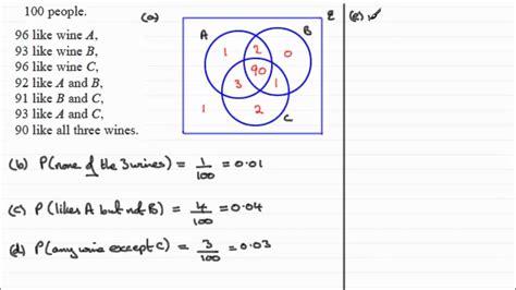 a level venn diagrams a level edexcel statistics s1 january 2008 q5 venn