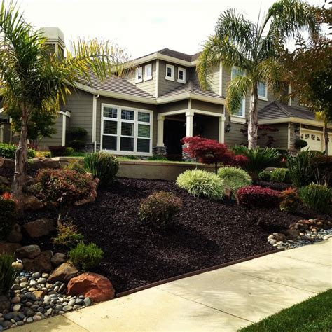 mulch front yard use of rubber mulch recycled tires provides a look