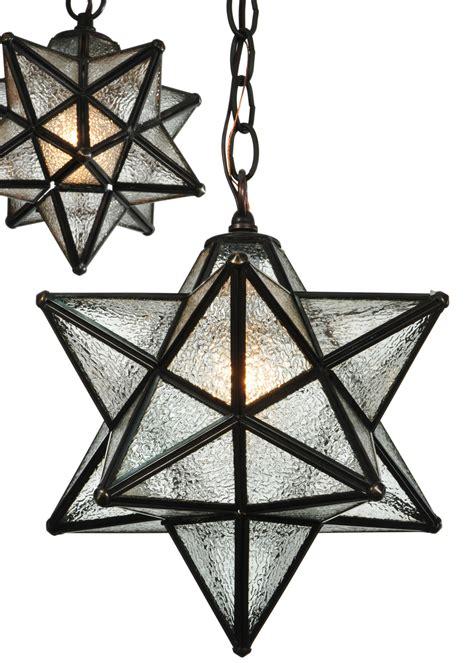 star pendant light fixture meyda 130969 moravian star 3 light shower multi pendant