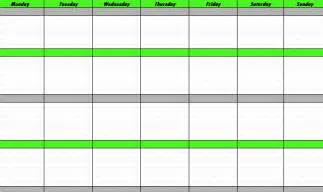 template weekly schedule weekly schedule template weekly schedule