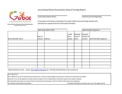 annual training report templates  allbusinesstemplatescom