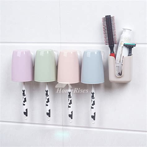 Toothbrush Holder Suction No Drill Abs Plastic No Drill Bathroom Accessories