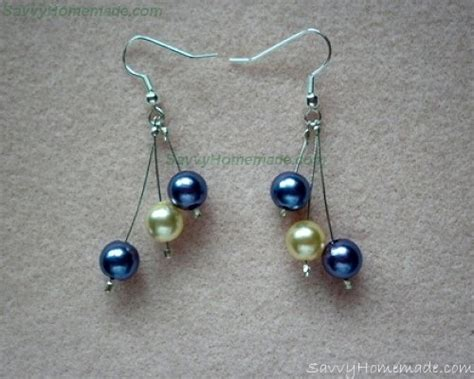 bead earrings how to make how to make pretty crimp bead earrings