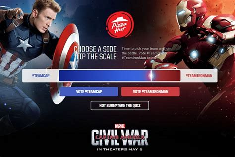 Pizza Hut Sweepstakes - pizza hut marvel s captain america civil war sweepstakes sweepstakesbible