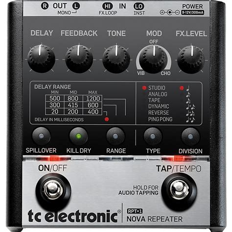 Tc Electronic Delay tc electronic repeater delay guitar effects pedal