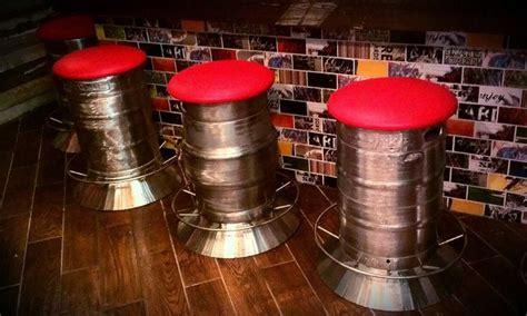 keg bar stools diy keg bar stools at backshore brewing co for the home