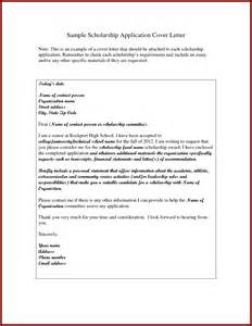 Cover Letter Exles For Scholarships by 15 Cover Letter Sle For Scholarship Sendletters Info