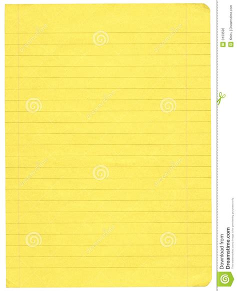 How To Make Paper Yellow - yellow lined paper royalty free stock image image 3133596
