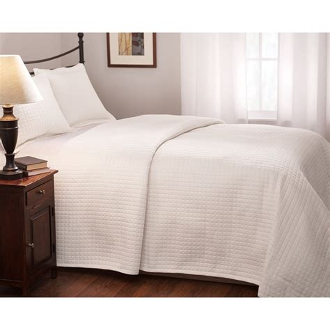 coverlet white roxbury park quilted king size white coverlet free
