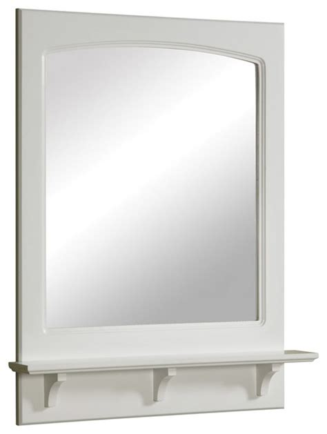 traditional bathroom mirrors concord 24 quot mirror 1 open shelf white gloss finish