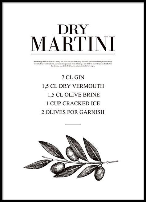 martini poster poster mit cocktailrezept martini k 252 chenposter
