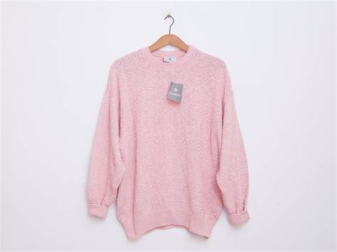 pink sweater oversized sweater 90s deadstock vintage pink new stock