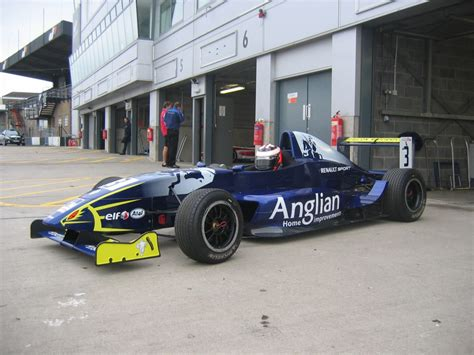 the anglian home improvements racing car roles out onto