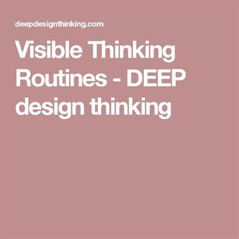 design is thinking made visible 1000 ideas about visible thinking on pinterest visible