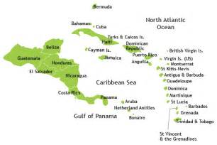 map of central american islands