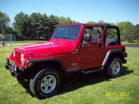 2004 Jeep Wrangler Soft Top Buy Used 2004 Jeep Wrangler Sport Soft Top In