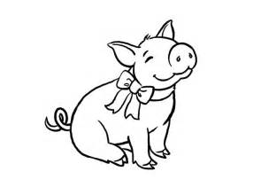Pig Template Animal Templates Free Premium Templates Piggy Coloring Pages