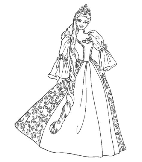 disney coloring pages barbie free printable disney princess coloring pages for kids