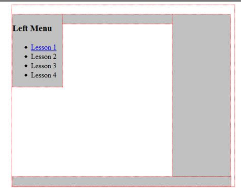 kompozer templates kompozer front page template layout