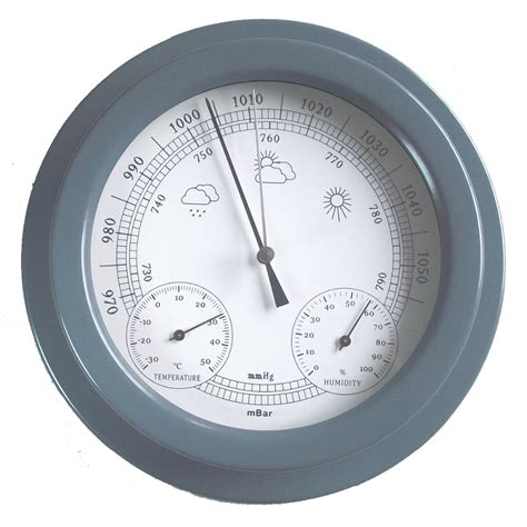 gray color baking vanish iron aneroid barometer