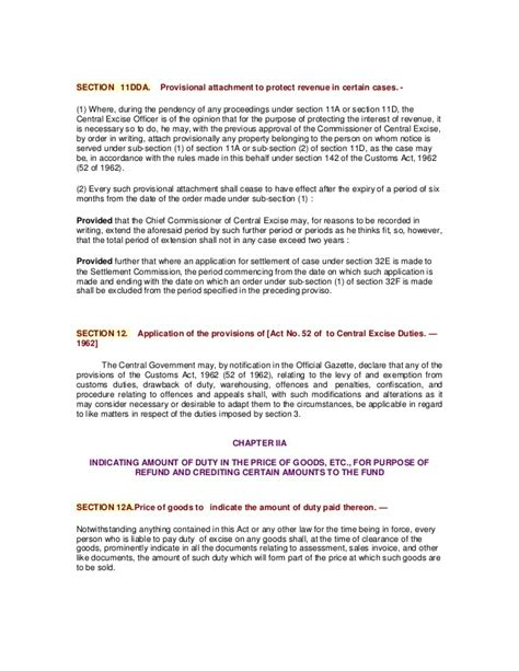 section 11d bare act the central excise act 1944