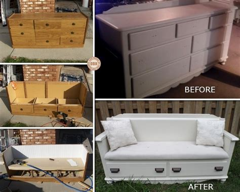 dresser turned into a bench dresser upcycled into a bench the owner builder network