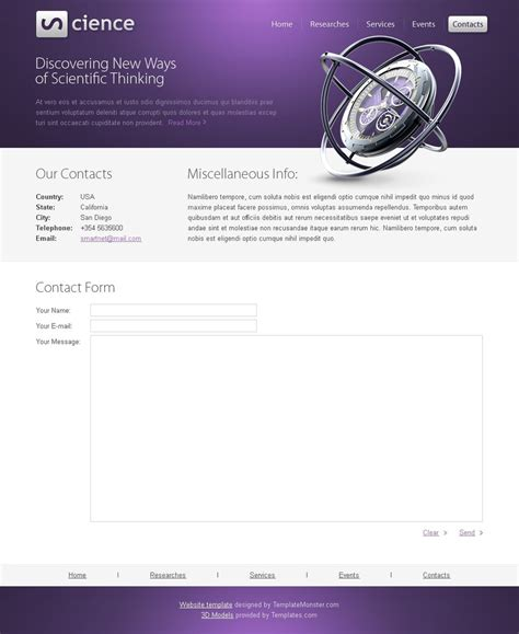 html5 templates for books free science html5 template