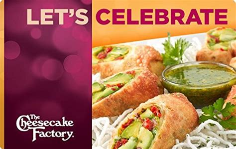 Thecheesecakefactory Com Gift Card Balance - amazon com the cheesecake factory let s celebrate gift cards e mail delivery gift