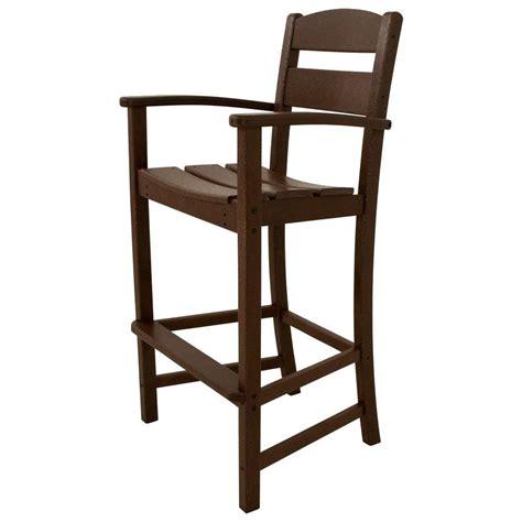 bar patio chairs terrace classics mahogany patio bar arm chair