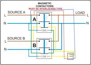 automatic change over switch circuit diagram automatic