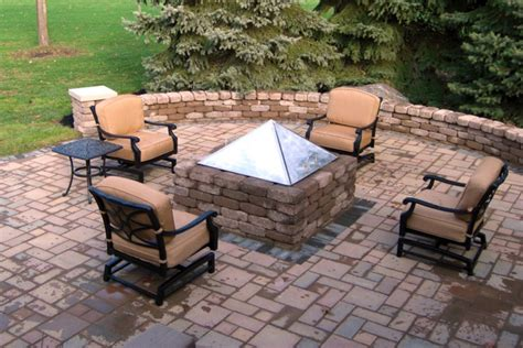 Kitchen Furniture Columbus Ohio by Suncraft Paver Patio With Fire Pit And Seat Wall