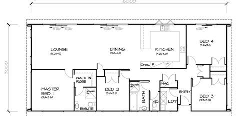 Brilliant Simple 3 Bedroom House Plans Nice Home Basic 4 Bedroom Home Plans