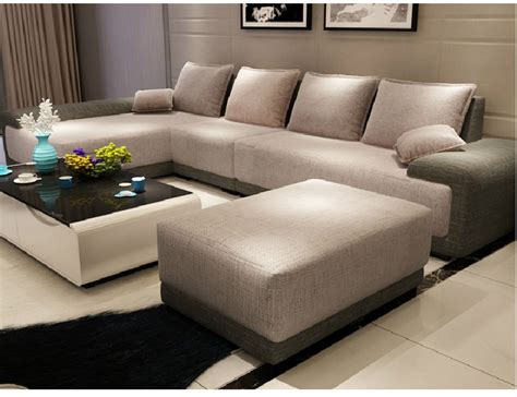 best designer furniture modern italian furniture simple style big size living room furniture l shape fabric sofa