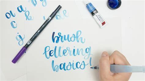 brush lettering tutorial watercolor brush lettering for beginners watercolor tutorial